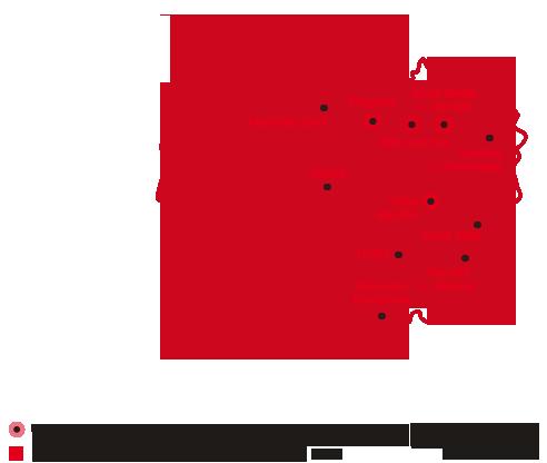Roznos letáků - mapa distribuce